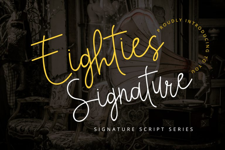 Preview image of Eighties Signature