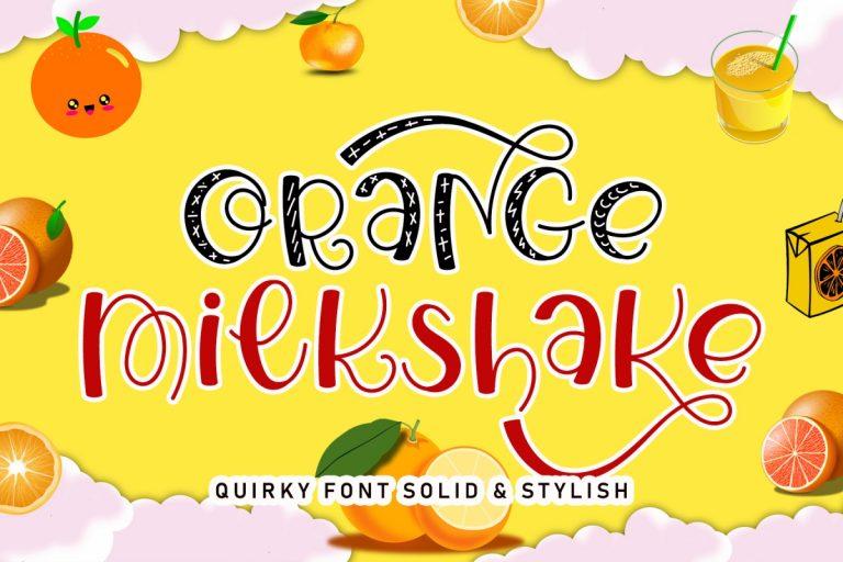 Preview image of Orange Milkshake
