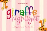 Last preview image of Giraffe Highlight Font Duo
